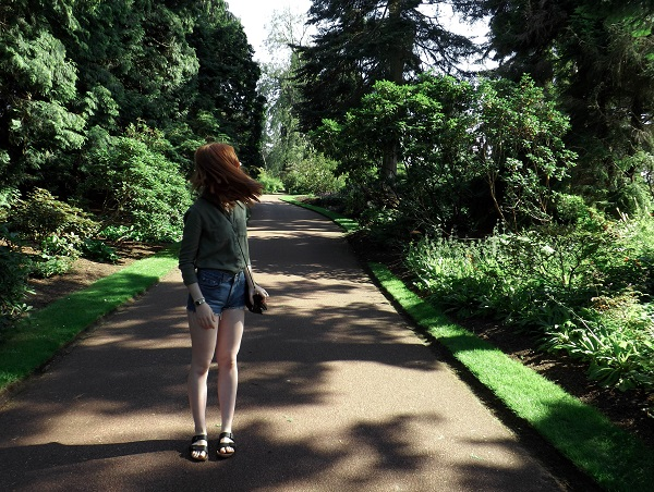 electricolivia blog edinburgh botanic gardens hair flick