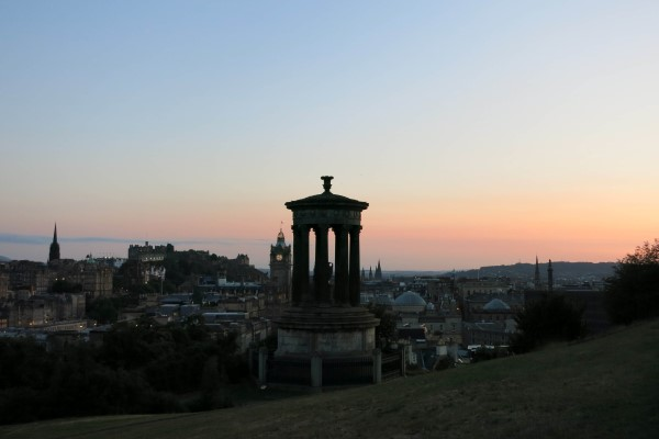 Evening calton hill sunset